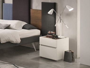 Lacquered wooden bedside table with drawers REPLAY | Bedside table