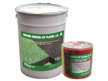 Finitura alifatica bicomponente colorata RESIN GREEN UP FLOOR 2K