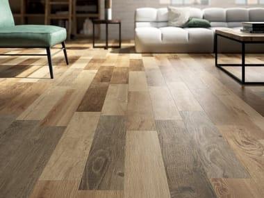 Pavimento/rivestimento in gres porcellanato effetto legno RESTYLE HONEY