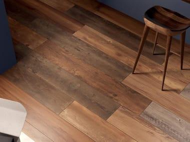 Pavimento/rivestimento in gres porcellanato effetto legno RESTYLE RED