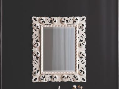 Espelho moldurado de madeira de parede RETRÒ