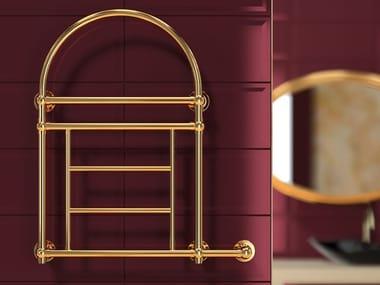 Wall-mounted hot-water brass radiator RETRÒ III