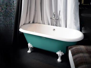 Vasca Da Bagno Retro : Vasca da bagno centro stanza ovale su piedi retro design by
