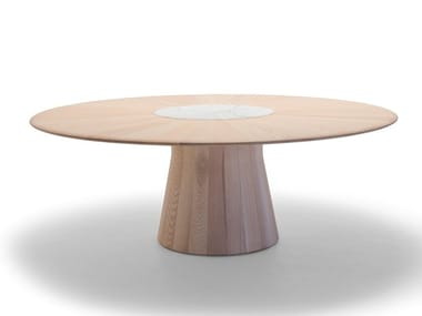 Round wooden table REVERSE WOOD ME 9955