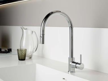 Single handle kitchen mixer tap with pull out spray REVERSO   Kitchen mixer tap with pull out spray