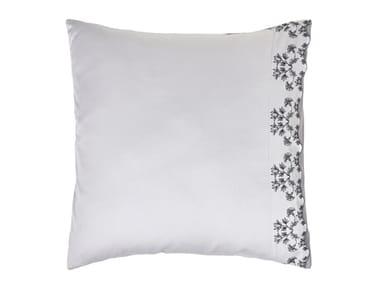 Federa ricamata in cotone con motivi floreali RHAPSODY | Federa
