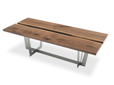 Rectangular solid wood table RIALTO TABLE