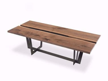 Contemporary style rectangular wooden dining table RIALTO TABLE | Walnut table