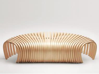 Panca in legno RIBS | Panca