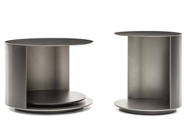 Swivel round aluminium side table RICHER