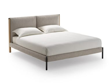 Double bed with upholstered headboard RICORDI