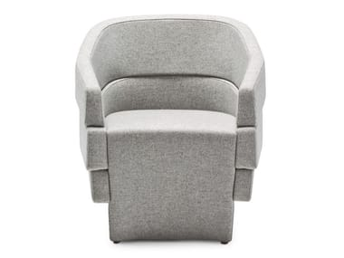 Upholstered easy chair with armrests RIFT | Easy chair