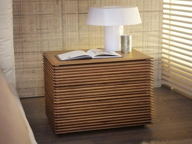 Wooden bedside table with drawers RIGA | Bedside table