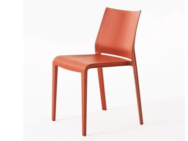 Stackable polyethylene chair RIGA