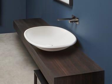 Lavabo da appoggio ovale in Flumood® RIM | Lavabo ovale