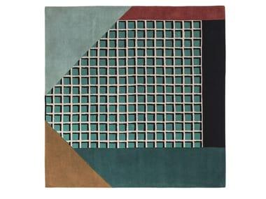 Square wool rug with geometric shapes RIMINI | Rug