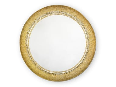 Round framed wall-mounted mirror RING FILIGREE | Mirror