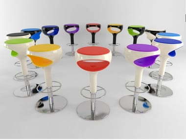 Height-adjustable barstool RING | Stool