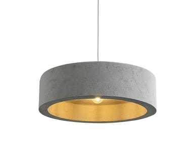 Direct light Recycled paper pendant lamp RINGAS