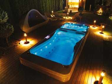 Rectangular hydromassage hot tub RIO GRANDE