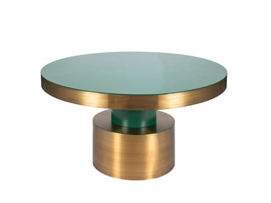 Lacquered round living room table RIO | Round table