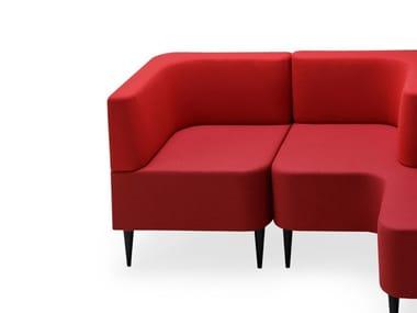 Corner modular fabric armchair RIPPLE | Armchair