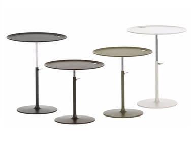 Mesa de centro ajustável em altura redonda RISE TABLE