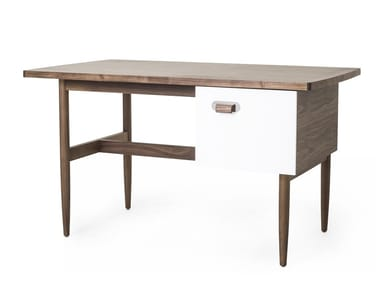 Rectangular wooden writing desk with drawers RISOM   Writing desk
