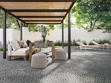 Pavimento/rivestimento in gres porcellanato effetto pietra RISSEU
