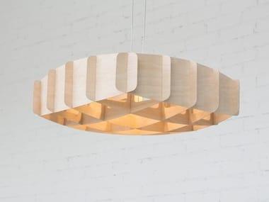 Luminária pendente de madeira compensada RISTIKKO 65 | Luminária pendente