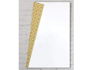 Rectangular wall-mounted mirror RISVOLTI