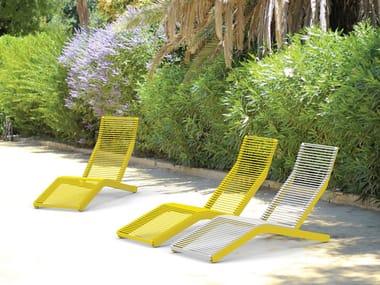 Galvanized steel sun lounger RIVAGE | Steel sun lounger