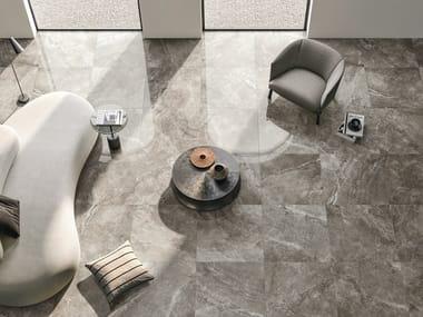 Pavimento/rivestimento in gres porcellanato effetto pietra RIVER