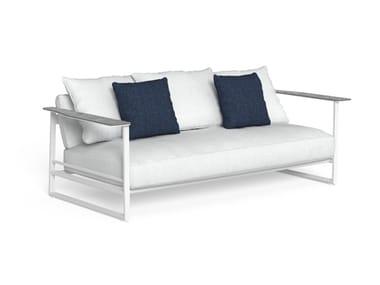 2 seater sled base fabric garden sofa RIVIERA | Garden sofa