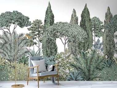 Landscape non-woven paper wallpaper RIVIERA NATUREL