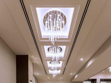 Lampada da soffitto a LED in vetro RIVOLO