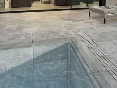 Pavimento de gres porcelánico efecto piedra ROCA