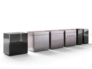 Modular steel outdoor kitchen ROCK.AIR