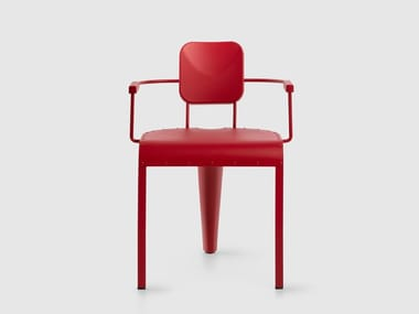 Aluminium chair with armrests ROCK   Chair with armrests