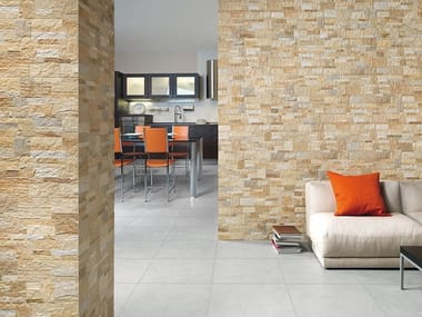 Porcelain stoneware wall tiles with stone effect ROCK STYLE