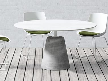 Lacquered round table ROCK TABLE | Lacquered table