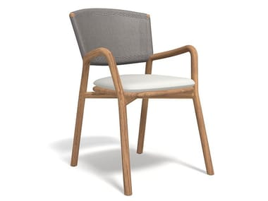 Teak garden chair with armrests PIPER 061 | Chair with armrests