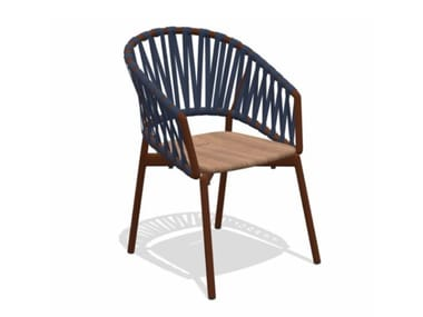 Garden easy chair RODA - PIPER 122 Rust-Teak-Blue