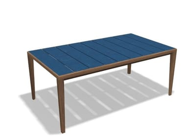 Garden table RODA - TEKA 173 Teak-Gres sapphire