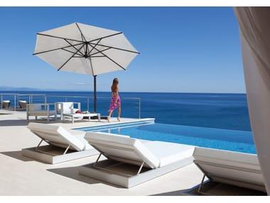 Offset aluminium Garden umbrella RODI GRAPHITE