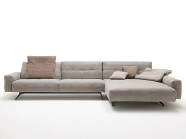 Sled base sofa with chaise longue ROLF BENZ 50 | Sofa with chaise longue