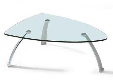 Low Glass And Steel Coffee Table ROLF BENZ 5021