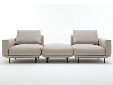 Sectional leather sofa ROLF BENZ 530 VOLO   Leather sofa