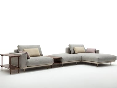 Sectional fabric sofa with chaise longue ROLF BENZ 530 VOLO   Sofa with chaise longue