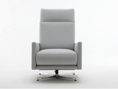 Fabric armchair with footstool ROLF BENZ 574 | Fabric armchair